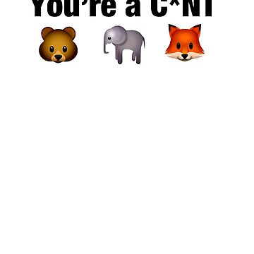 If you hunt, you're a c*nt  animal rights vegan shirt by SOpunk