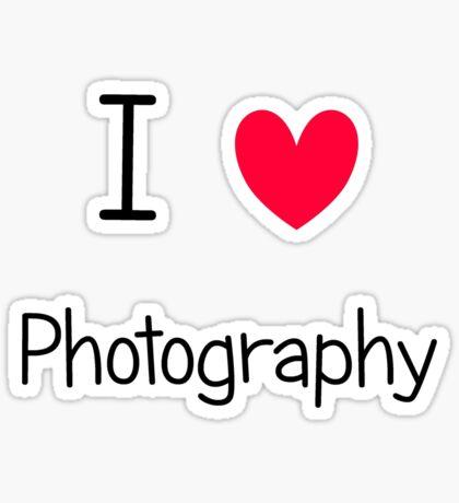 I ♥ Photography Sticker