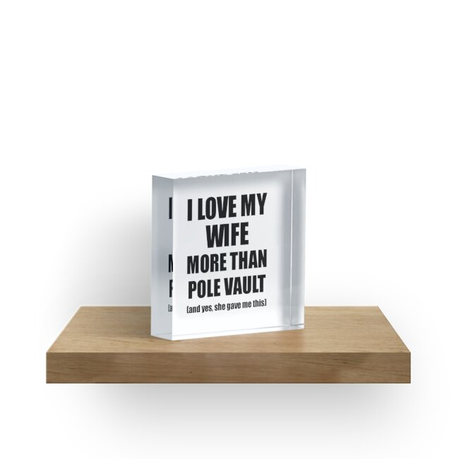 Pole Vault Husband Funny Valentine Gift Idea For My Hubby Lover From Wife von FunnyGiftIdeas