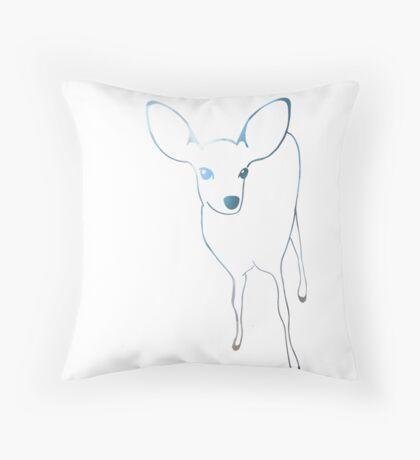 Big Glitter Deer Throw Pillow