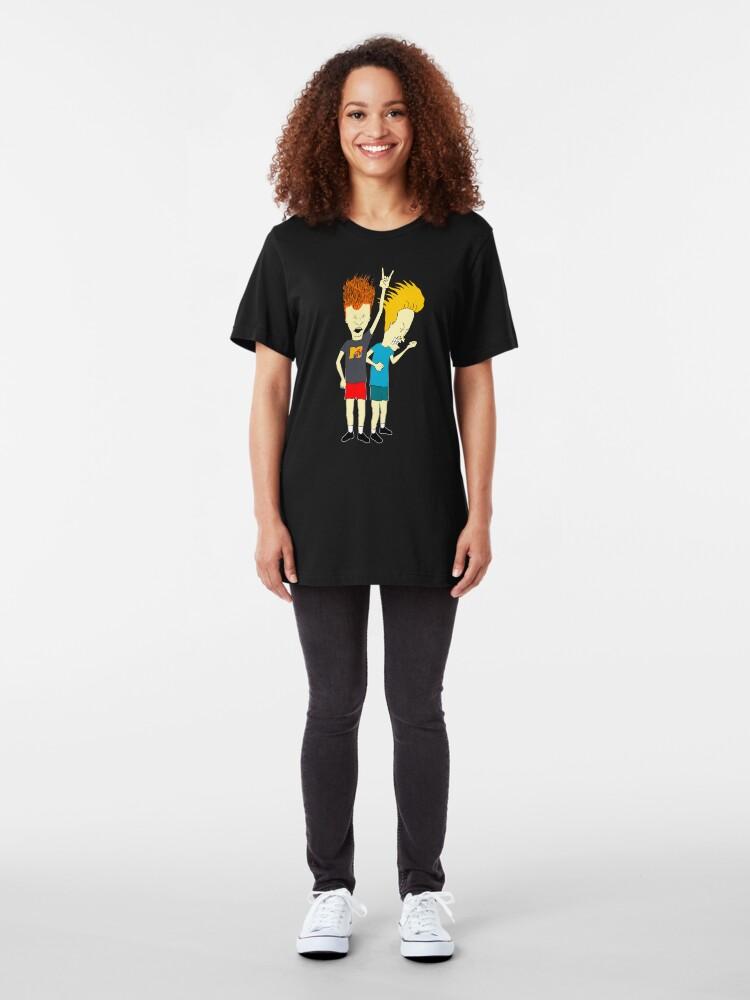 Vista alternativa de Camiseta ajustada Beavis and Butt-Head