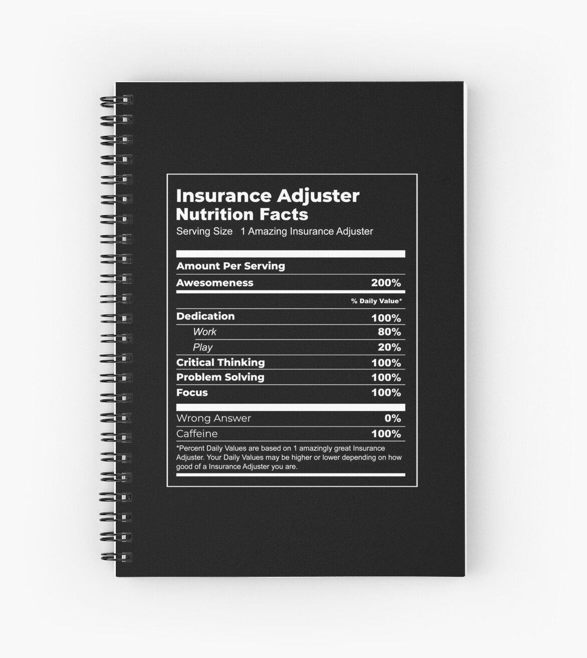 """""""Funny Insurance Adjuster T-shirt (Nutrition Facts Parody ..."""