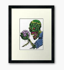 BRAINS!!! Framed Print