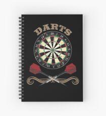Darts Dartboard Dart Spiral Notebook