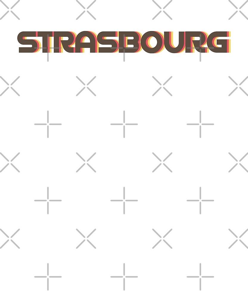 Retro Strasbourg T-Shirt by designkitsch