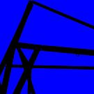 Blue Angle Abstract by schiabor
