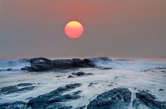 Red October - Currumbin Gold Coast Australia by Beth  Wode