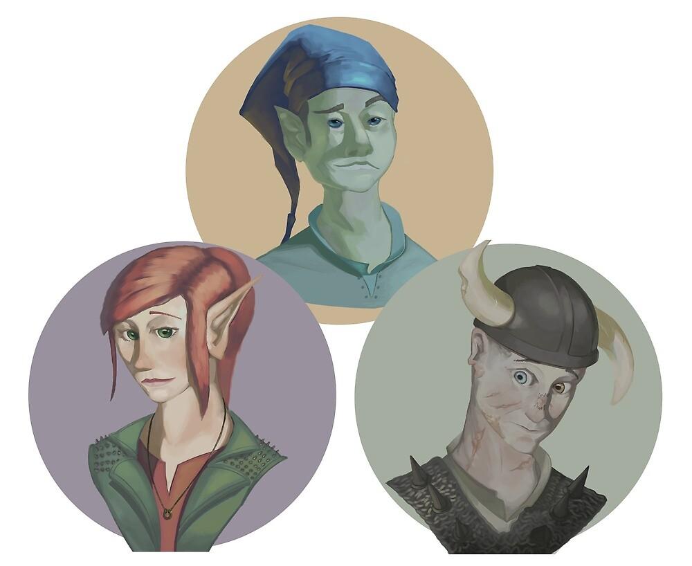 Apple Squadeth Portraits by fateofisen