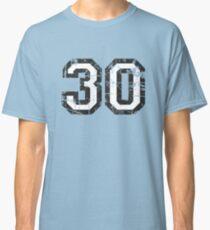 Number 30 Vintage 30th Birthday Anniversary Classic T-Shirt