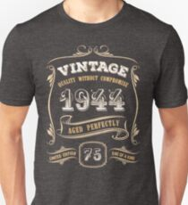 75th Birthday Gift Gold Vintage 1944 Aged Perfectly Slim Fit T-Shirt