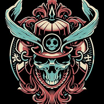 Samurai Skull by BlackoutStore