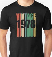 41st Birthday Retro Design - Vintage 1978 Unisex T-Shirt