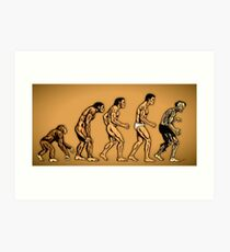 Zombie Evolution Art Print