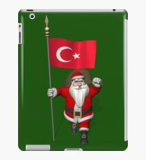 Santa Claus With Flag Of Turkey iPad Case/Skin
