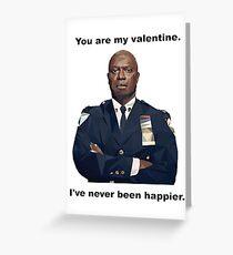 Tarjeta de felicitación ¡Tú eres mi Valentín! Capt. Holt nunca ha sido más feliz!