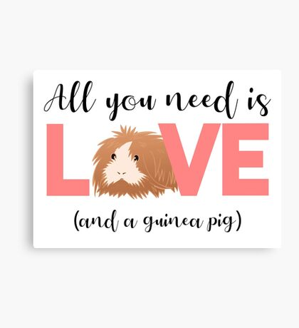 GUINEA PIG - ALL YOU NEED IS LOVE AND A GUINEA PIG Canvas Print