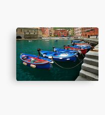 Vernazza Boats Canvas Print