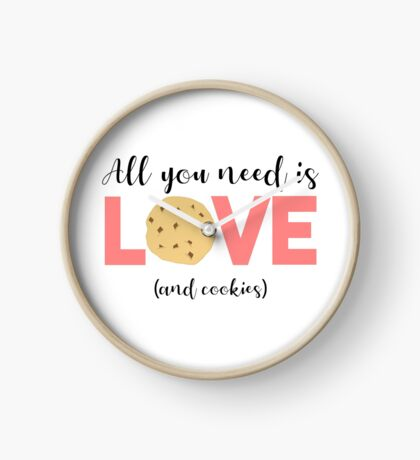 Cookies - All you need is LOVE and COOKIES Clock