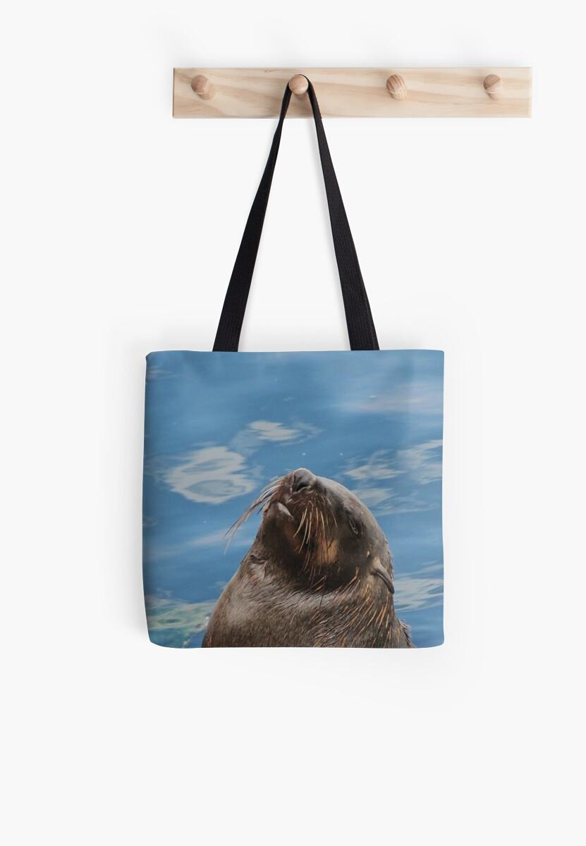 Daydreaming seal - Tote bag by Lee Jones