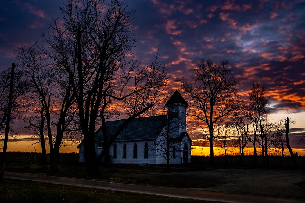 Asbury Church Sunset by thestormworks