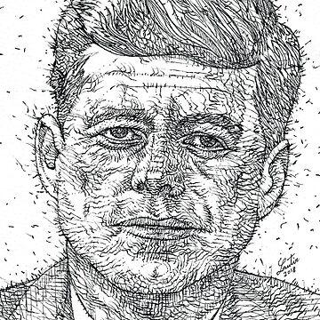 JOHN F. KENNEDY - ink portrait by lautir