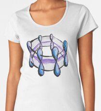Benzene Molecule Pattern Organic Chemistry Women's Premium T-Shirt