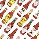 Spicy hot sauce pattern diagonal  by shoshannahscrib