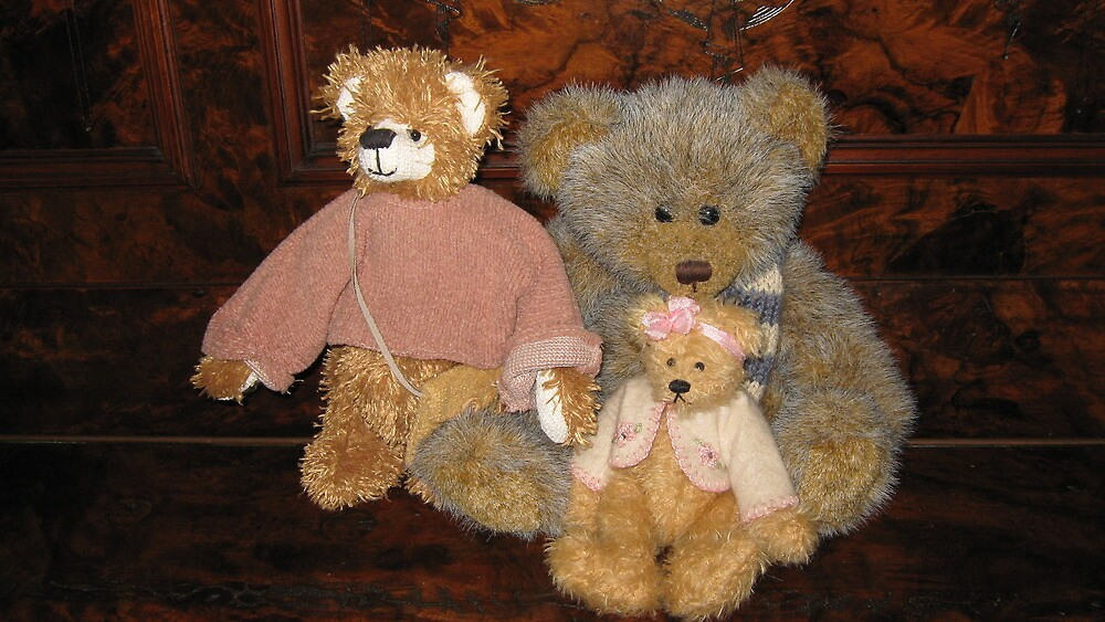 Three Teddy Bear Friends. by Mywildscapepics