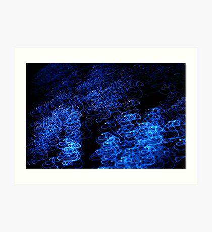 Fiber optic swirl Art Print