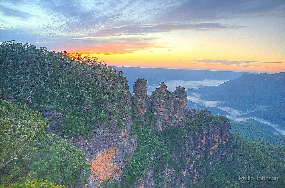 Sisters - Blue Mountains World Heritage Area, Sydney - The HDR Experience by Philip Johnson