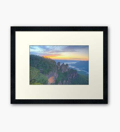 Sisters - Blue Mountains World Heritage Area, Sydney - The HDR Experience Framed Print