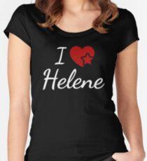I love Helene, ich liebe Helene T-Shirt für Fans und Verliebte Women's Fitted Scoop T-Shirt