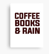 Coffee books & rain Canvas Print