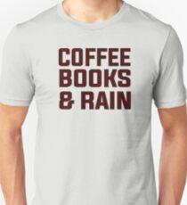 Coffee books & rain Unisex T-Shirt