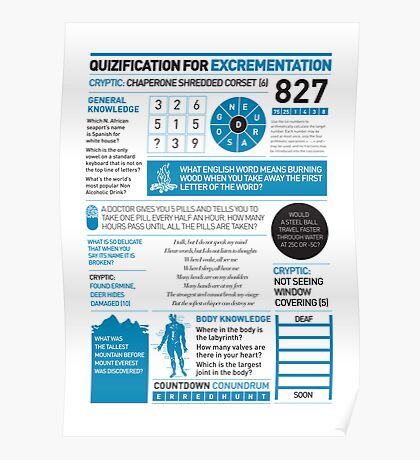 Quizification for excrementation Poster