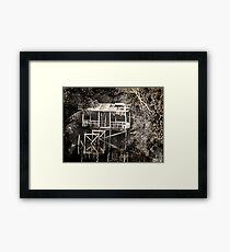 """RANDOLPH SMITH'S HUT AT BLACKWATER"" Framed Print"