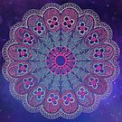 Vibrant digital doily - image from the 1800s digitally coloured  by Epic Splash Creations