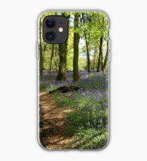 Bluebells in Lower Deans Wood, Oxfordshire iPhone Case