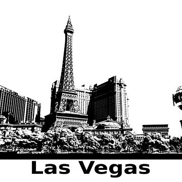 Las Vegas Panorama by RetroFuchs