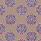 Repeat pattern of digital doily made from a vintage pattern 1800s by Epic Splash Creations
