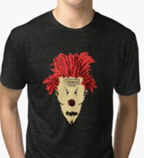 Evil Clown Hand Draw Illustration Tri-blend T-Shirt