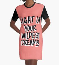 Light Up Your Wildest Dreams Graphic T-Shirt Dress