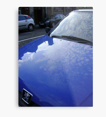 sky blue car Metal Print