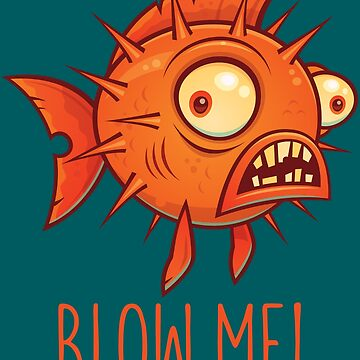 Porcupine Blowfish Cartoon - Blow Me by fizzgig