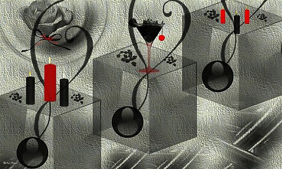 Black and white-  Art + Products Design  by haya1812