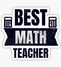 Pegatina El mejor regalo de profesor de matemáticas
