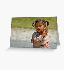 Nepali little girl Greeting Card