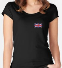 Flag of Great Britain - UK Flag Duvet Cover Sticker and Shirt Women's Fitted Scoop T-Shirt