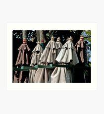 Slotted Deck Umbrellas Art Print