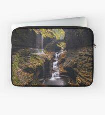 Rainbow falls cascade at Watkins Glenn state park Laptop Sleeve